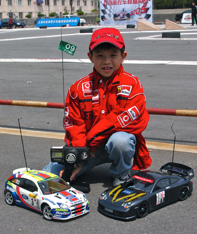 JJ with his cars